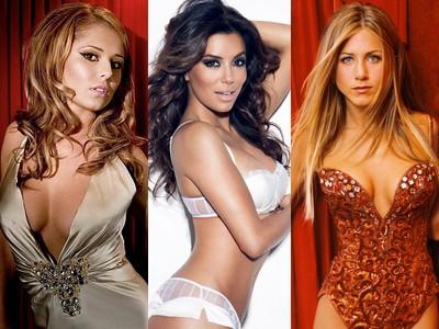 Cheryl Cole, Eva Longoria şi Jennifer Aniston