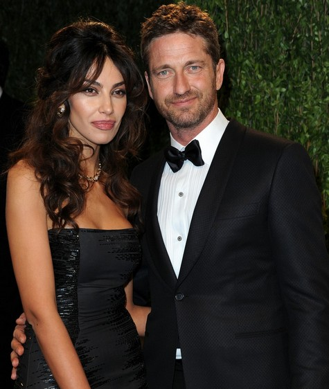 Mădălina Ghenea şi Gerard Butler, la Oscar After Party (credit foto justjared.com)