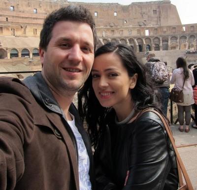 Olivia Steer şi Andi Moisescu, în vacanţă la Roma