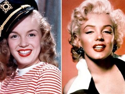 Marylin Monroe, înainte și după operații estetice